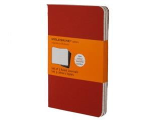 Moleskine Schrift Pocket Gelijnd 3 Stuks Rood