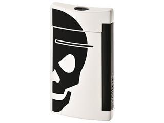 ST Dupont aansteker mini jet doodskop wit/zwart