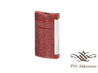 ST Dupont Minijet Swarovski Full Rouge Aansteker