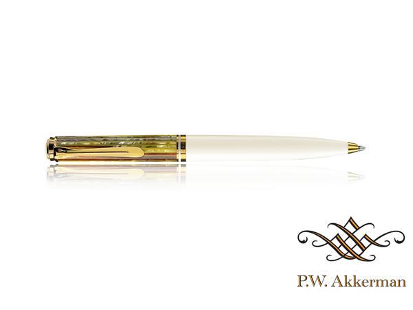 Pelikan K600 Balpen schildpad bruin/wit