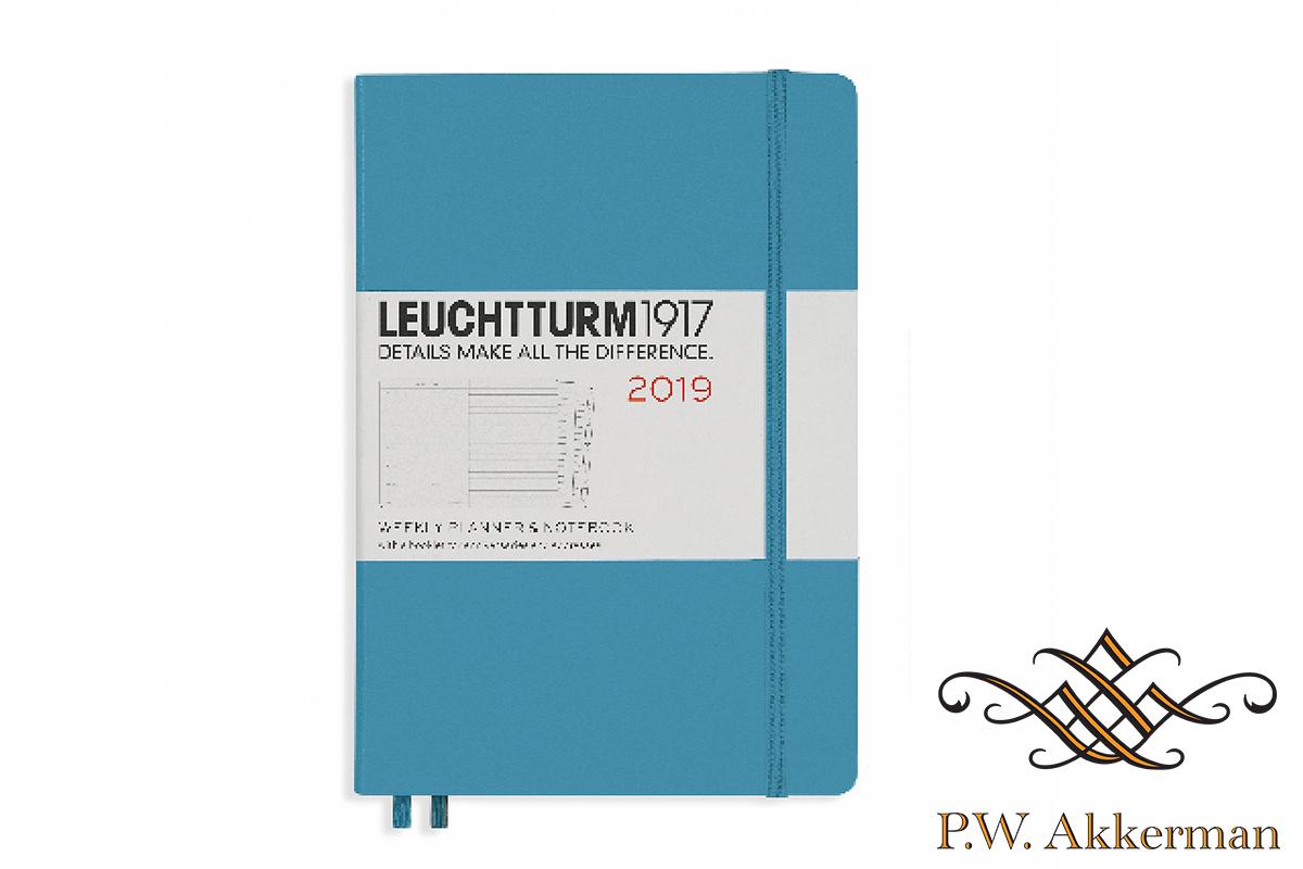 Leuchtturm Wekelijkse Agenda 2019 A5 Licht Blauw
