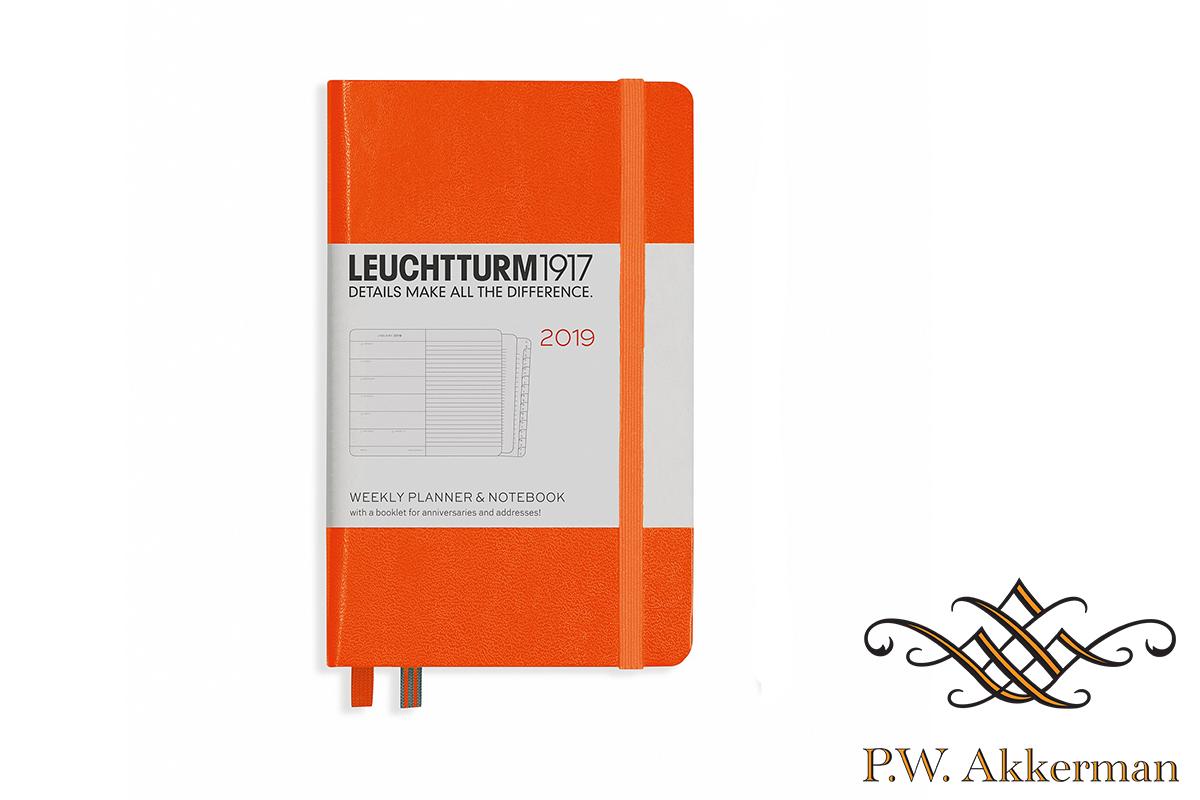Leuchtturm Wekelijkse Agenda 2019 A6 Oranje