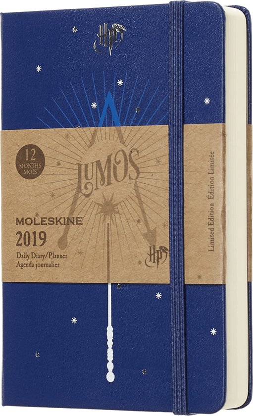 Moleskine agenda 2019 1 dag p.p. pocket Harry Potter